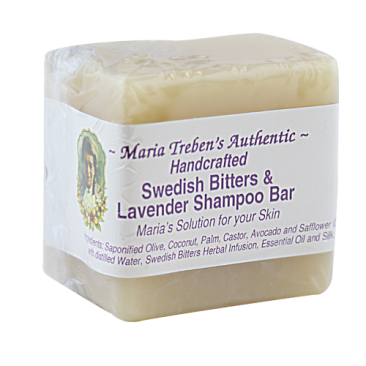 Maria Treben's Authentic Handcrafted Swedish Bitters & Lavender Shampoo Bar (3oz Bar)